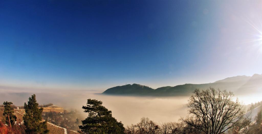 Brașov sub ceață, de la Belvedere